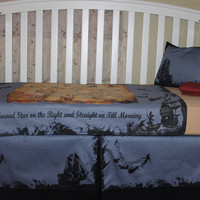 Peter Pan Themed 5 Piece Crib Bedding Set