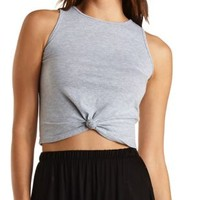 Knot Front Scoop Neck Tank Top by Charlotte Russe
