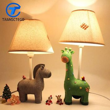 Decoration Light Baby Kids Care Eye LED Bedside Desk Lamp For Children Bedroom Led Table Lamp Shade Minion Lamps