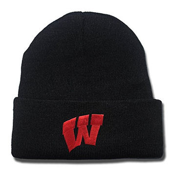 DEBANG Wisconsin Badgers Logo Beanie Fashion Unisex Embroidery Beanies Skullies Knitted Hats Skull Caps
