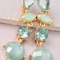 Drop Earrings - Mint