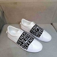 Givenchy Women Fashion Casual Flats Shoes Leather Black White Men Sneakers Sport Shoes