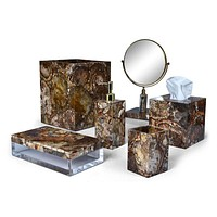 Taj Petrified Wood Bath Accessories by Mike + Ally