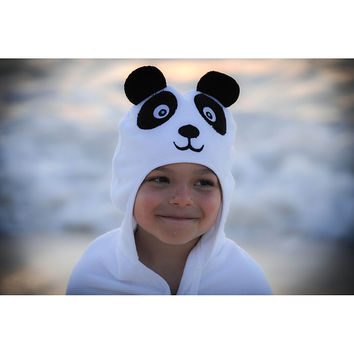 Panda Hooded Cotton Turkish Towel: Baby