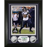 Seattle Seahawks Super Bowl 48 Champions inMVPin Silver Coin Photo Mint