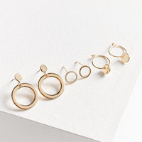 Spinning Circles Post + Hoop Earring Set | Urban Outfitters