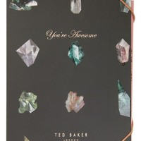 Ted Baker London You're Awesome Gemstone Notebook with Pencil | Nordstrom