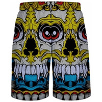 Colorful Skulls Mesh Shorts