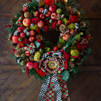 MacKenzie-Childs Estate Barn 36 Wreath