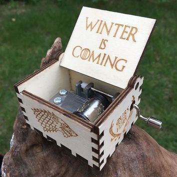Creative Antique carved wooden game of thrones music box Star wars Hand Cranked,Christmas gift, new year gift, birthday gift