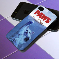 Paws Jaws Movie Funny Cats Parody Unique Cat Attack - iPhone 4 / iPhone 4S / iPhone 5 / Samsung S2 / Samsung S3 / Samsung S4 Case Cover