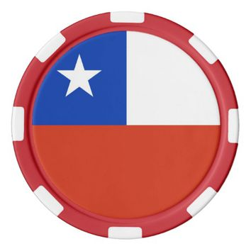 Poker chips with Flag of Chile