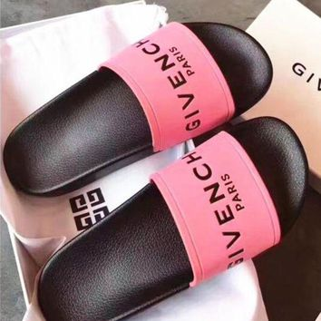 Givenchy Woman Fashion Sandals Slipper Shoes B/A Pink