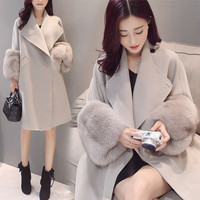 Wool Winter Stylish Slim Coat Plus Size Korean Jacket [9374892490]