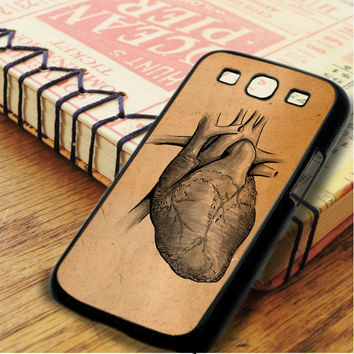Vintage Heart Medical Illustration Samsung Galaxy S3 Case
