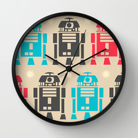 Star wars Wall clock - Modern wall clock -R2D2 decor - Designer gift - Nursery decor - Contemporary decor - Wall Decor - Wall art