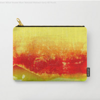 Vibrant Yellow Sunset Glow Textured Abstract by Sheila Wenzel