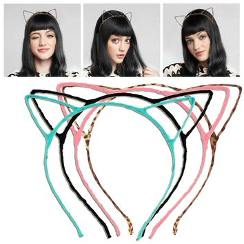 Cute Fancy Dress Costume Party Cat Ears Wired Headband