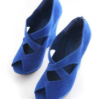 Criss Suede Wedges   Wedges at Pink Ice