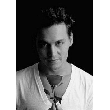 "Johnny Depp Poster Black and White Poster 16""x24"""