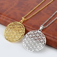 dongsheng Myth Love Knot Supernatural Flower of Life Egyptian Jewelry Simple Tai Chi Male Pendant Necklace For Men Women Gifts