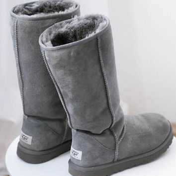 ugg women classic tall gray boots