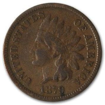 1879 Indian Head Cent Fine