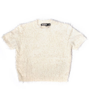 Fall In Fuzz Crop Top - Ivory