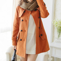 Coffee Colored Long Sleeve Jacket