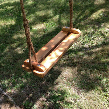 Swing reclaimed pine rope garden or tree swing