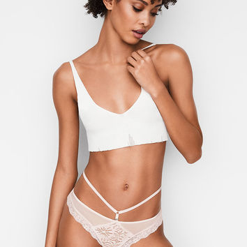 Palm Lace Thong Panty - Very Sexy - Victoria's Secret
