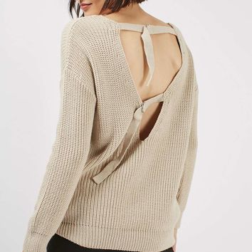 D-ring Open Back Jumper | Topshop