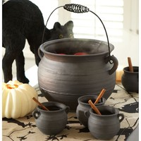 Cauldron Punch Bowl & Cups | Pottery Barn