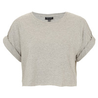 Roll Back Crop Tee - Crop Tops - Tops - Clothing - Topshop USA