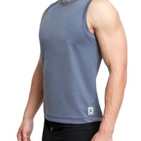 Eros Sport Cool Muscle Sleeveless Workout shirt is best for yoga clothing, pilates practice, crossfit workouts and running.