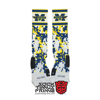 Custom Nike Elite Socks - Michigan Custom Nike Elites - Michigan Socks, Custom Elites, Michigan Wolverines Socks, Michigan Football
