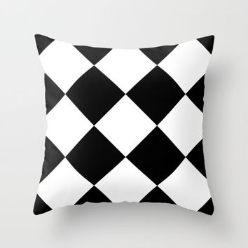 #18 Squares Throw Pillow by Minimalist Forms
