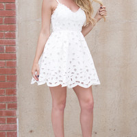 Flared Up Dress - WHITE