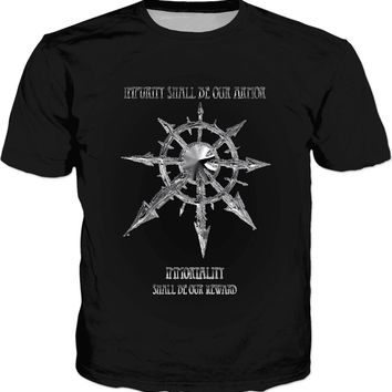 Impurity shall be our armor, Immortality shall be our shield, rts gaming inspired t-shirt