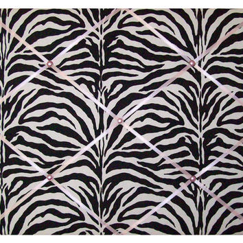 Pink & Zebra print French Memo Board by ToileChicBoutique on Etsy