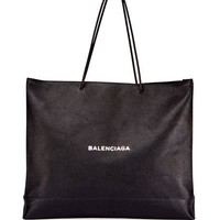 Balenciaga Mens Large East-West Tote Bag, Black/White