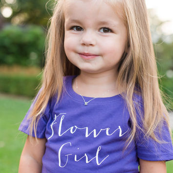 Flower Girl Tee. Flower Girl Shirt, Toddler Child, Junior Bridesmaid Tee, Bridal Shower Gift, Flower Girl Gift, Wedding, Bridesmaid Gifts