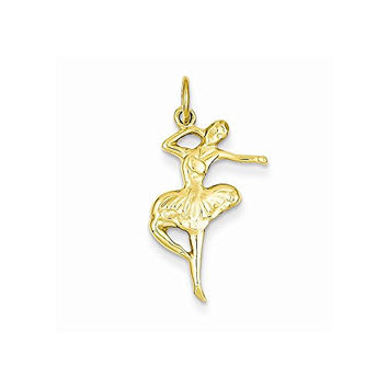 14k Ballet Dancer Charm, Best Quality Free Gift Box Satisfaction Guaranteed