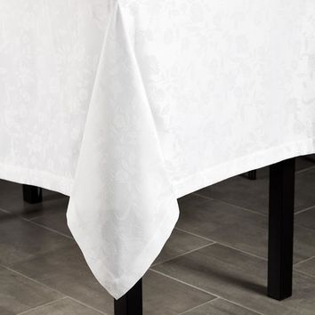 Tansy White Tablecloths & Napkins