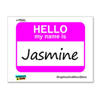 Jasmine Is Hello My Name Is Sticker