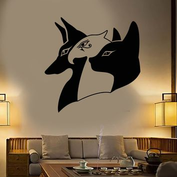 Vinyl Wall Decal Ancient Egypt Egyptian Gods Anubis Horus Bastet Stickers (2218ig)