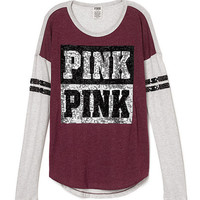 Bling Heavyweight Long Sleeve Tee - PINK - Victoria's Secret