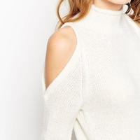 ASOS PETITE Sweater With Cold Shoulder Detail