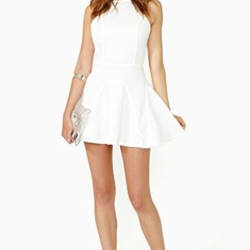 Full Of Mischief Dress - White
