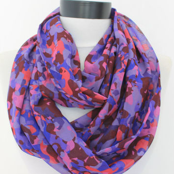 purple chiffon scarf,infinity scarf, scarf, scarves, long scarf, loop scarf, gift